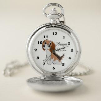 Reloj De Bolsillo Diseño personalizado del perro del beagle