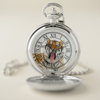 Reloj de bolsillo divertido del gato grande del