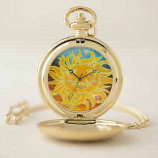 Reloj De Bolsillo Edad celestial de Sun de la sol nueva