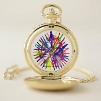 Reloj De Bolsillo El caramelo riega al artista del autismo
