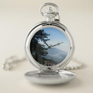 Reloj De Bolsillo El gemelo enarbola la montaña Vista