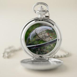 Reloj De Bolsillo El mundo dentro de una bola de cristal