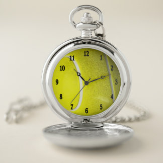 Reloj De Bolsillo El negro borroso amarillo de la plata de la pelota