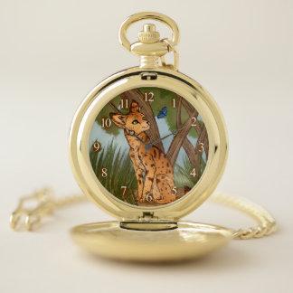 Reloj De Bolsillo El Serval y la mariposa