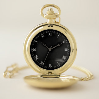 Reloj de bolsillo elegante del oro del número