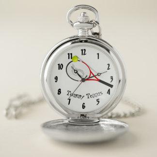 Reloj De Bolsillo Elegante moderno de plata enrrollado fresco del