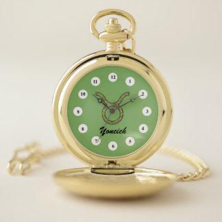 Reloj De Bolsillo Elemento del símbolo del zodiaco del tauro (Cf)