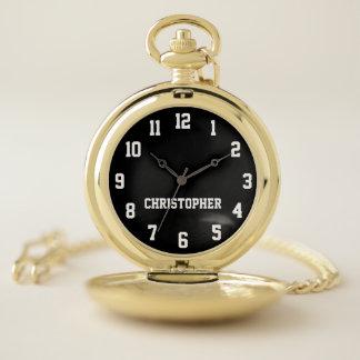 Reloj De Bolsillo ELIJA SU COLOR, retro elegante personalizada