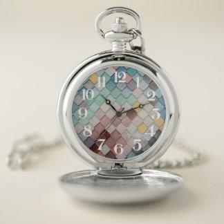 Reloj de bolsillo en colores pastel resistido de