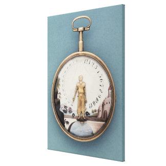 Reloj de bolsillo encajonado oro sujetador-en-l'ai impresiones en lienzo estiradas