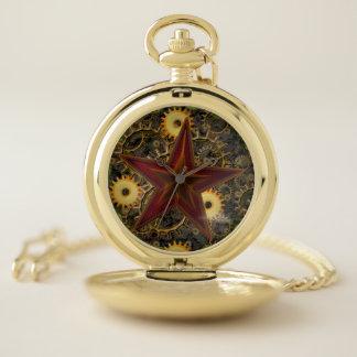 Reloj De Bolsillo Engranajes Steampunk Pocketwatch de la estrella y