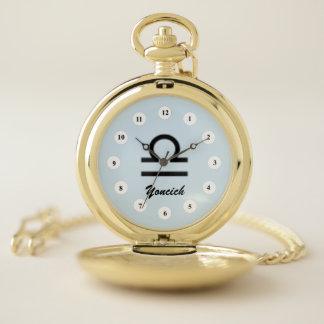Reloj De Bolsillo Estándar del símbolo del zodiaco del libra (Cf)