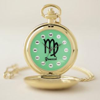 Reloj De Bolsillo Estándar del símbolo del zodiaco del virgo