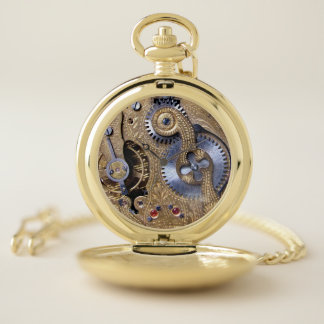 Reloj De Bolsillo Estilo de cobre amarillo realista con clase del