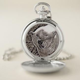 Reloj De Bolsillo estilo rústico - oso polar