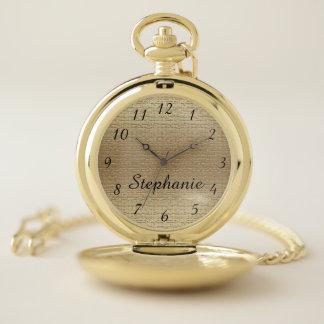 Reloj De Bolsillo Falso retro elegante conocido personalizada oro