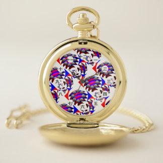 """Reloj De Bolsillo Fibonacci """"pescado"""" (cara de CHN/de JP) por"""
