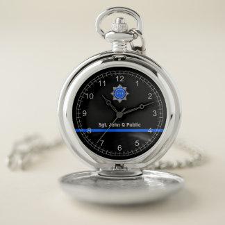 Reloj de bolsillo fino de Blue Line