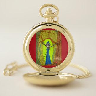 Reloj De Bolsillo Flor del escarlata (versión del Dachshund)