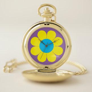 Reloj De Bolsillo Flower power