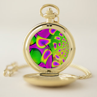 Reloj De Bolsillo Fractal del vidrio de PsychoBerries 3D
