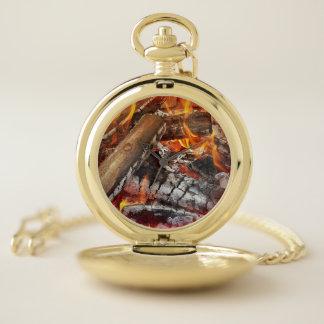 Reloj De Bolsillo Fuego con halo