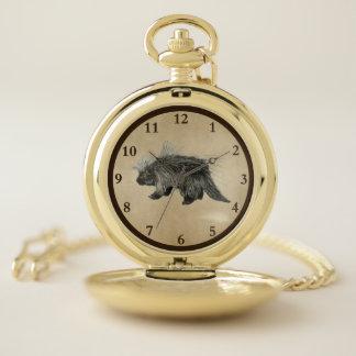 Reloj De Bolsillo Gordinflón espinoso en el papel viejo
