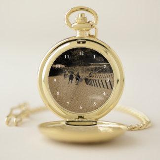 Reloj De Bolsillo Grunge fangoso de la pista de la carrera de