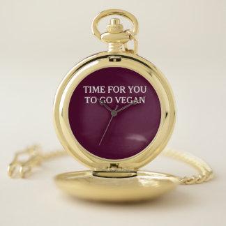 Reloj De Bolsillo Hora para que usted vaya vegano
