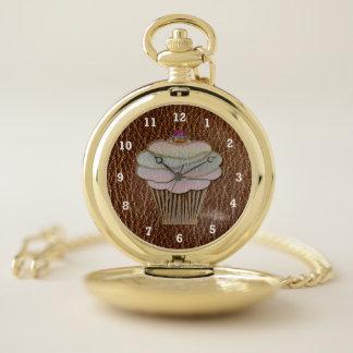 Reloj De Bolsillo Hornada de la Cuero-Mirada