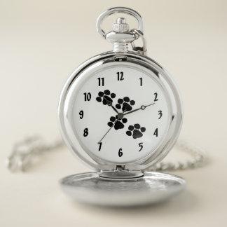 Reloj De Bolsillo Impresiones de la pata de los mascotas