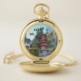 Reloj De Bolsillo Jardín de té japonés