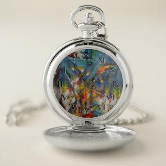 Reloj De Bolsillo La aparición del extracto del color al revés mira