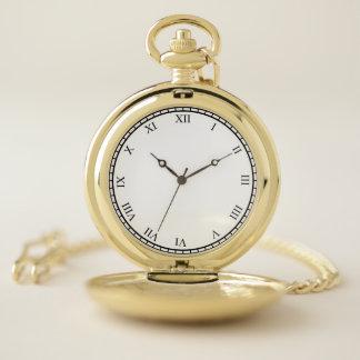 Reloj De Bolsillo La cubierta del oro de los números romanos del