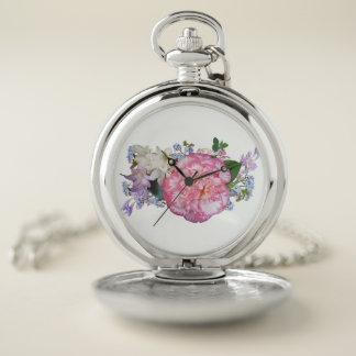 Reloj De Bolsillo La flor floral florece floración de la planta de