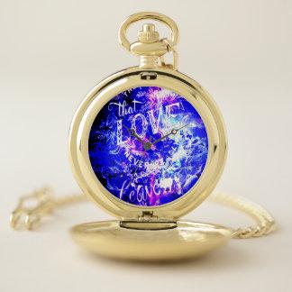 Reloj De Bolsillo La noche Amethyst de Yule soña los que nos aman