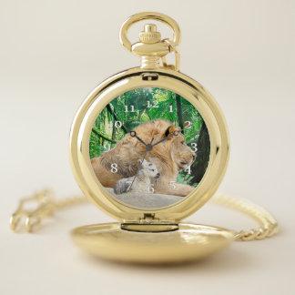 Reloj De Bolsillo León y cordero