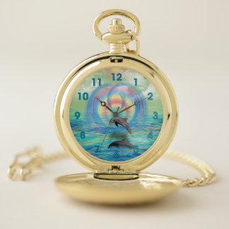 Reloj De Bolsillo Levantamiento del delfín