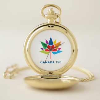 Reloj De Bolsillo Logotipo del funcionario de Canadá 150 -