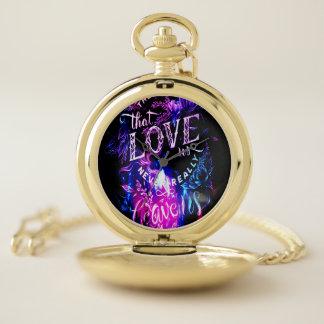 Reloj De Bolsillo Los que nos aman en invierno Amethyst soñan