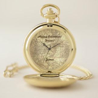 Reloj De Bolsillo Mapa del vintage del retiro del conductor de
