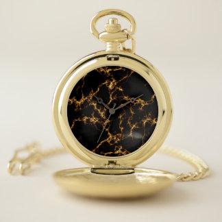 Reloj De Bolsillo Mármol elegante style3 - oro negro