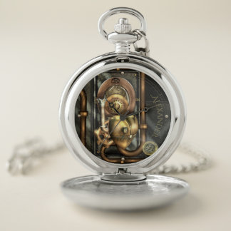 Reloj de bolsillo mecánico del corazón de