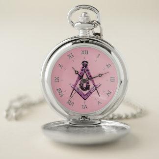 Reloj De Bolsillo Mentes masónicas (rosa)