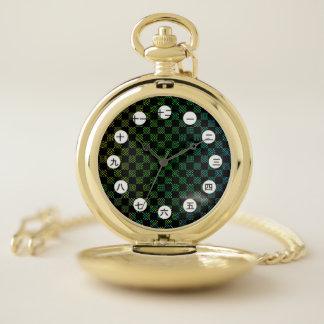 Reloj De Bolsillo Moaré a cuadros (chino/japonés) por K Yoncich