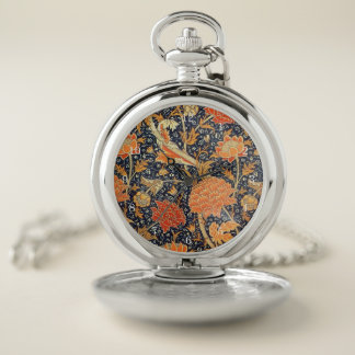 Reloj De Bolsillo Modelo floral de Nouveau del arte de William