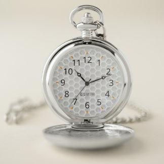 Reloj De Bolsillo Monograma. Deporte moderno. Modelo blanco de la