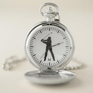 Reloj De Bolsillo Monograma. Deporte moderno. Oscilación negro y