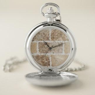 Reloj De Bolsillo Moreno geométrico