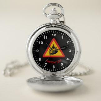 Reloj De Bolsillo Muestra del peligro del pimiento picante